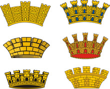 Heraldic European Urban Mural Crowns