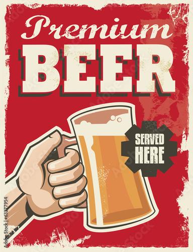 plakat-retro-rocznika-piwa-wektor-wzor-reklamy-znak