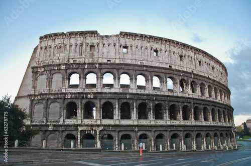 Leinwand Poster colosseum or coloseum at Rome Italy with Sunny Sky