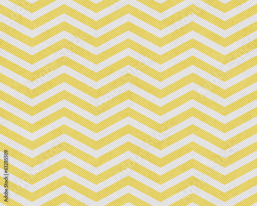 Pale Yellow and White Zigzag Textured Fabric Background