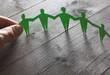 canvas print picture - Menschenkette Konzept