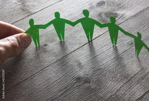 Fotografie, Tablou  Menschenkette Konzept