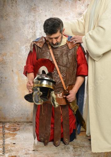 Fototapeta Jesus and Roman Centurion