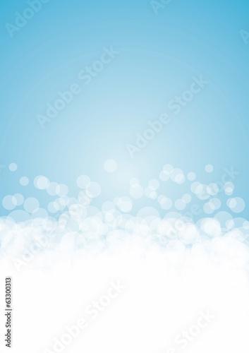 Sfondo azzurro a bolle