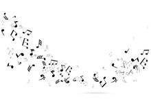 Vector Musical Notes Background
