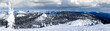 canvas print picture - Winter Panorama of Big Mountain, Montana, USA