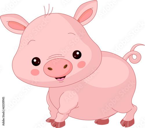 Poster Magie Farm animals. Pig