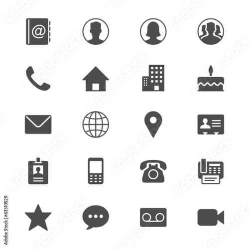 Fotografía  Contact flat icons