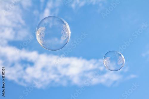 Fotografie, Obraz  Zwei Seifenblasen