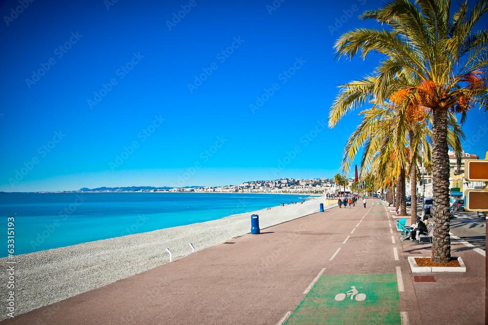 Fototapety, obrazy: Promenade des Anglais in Nice, France.