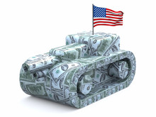 Tank Made Of Dollars