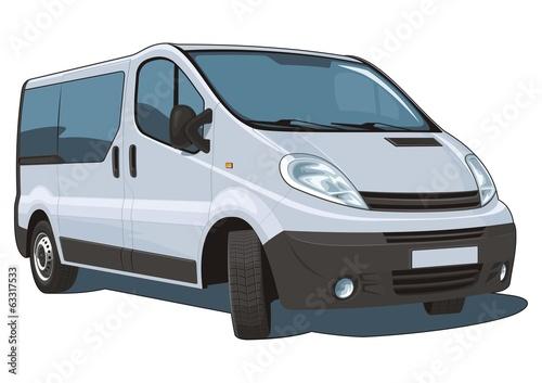 Fotografie, Obraz  Vector isolated van passenger and cargo