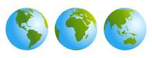 Globes Gradient Blue Green