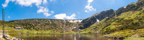 Fototapeta Panoramic view on Cirque of the Small Pond obraz