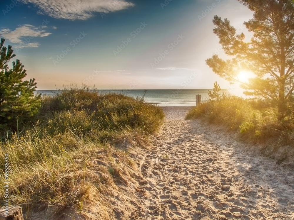 Fototapety, obrazy: Instant - Strandaufgang