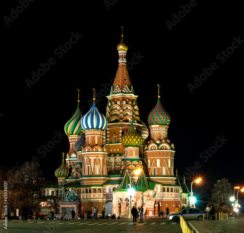 St Basils Cathedral at night. Moscow, Russia