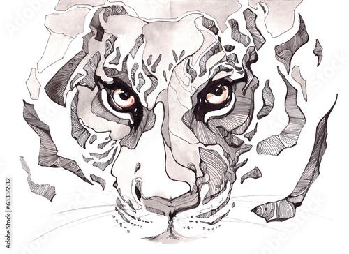 Plakat na zamówienie tiger