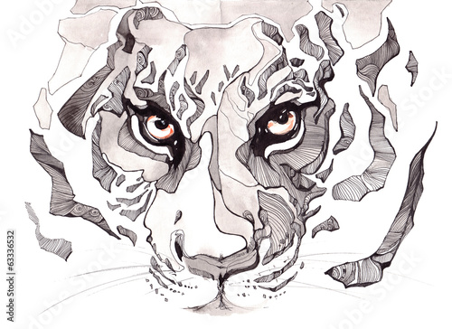 Nowoczesny obraz na płótnie tiger
