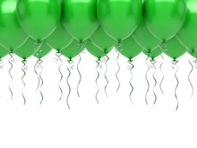 Green Party Balloons