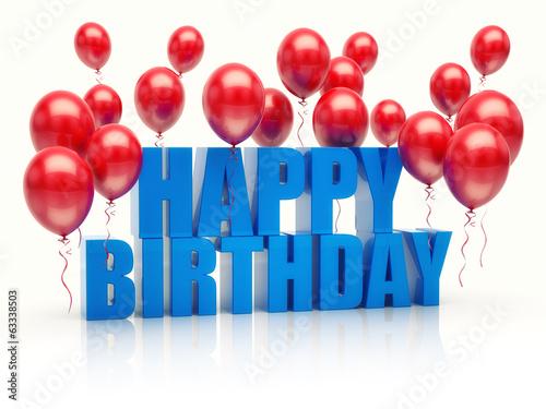 Fotografia, Obraz  Happy birthday anniversary balloons