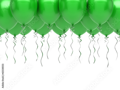 Fotografia, Obraz  Green party balloons