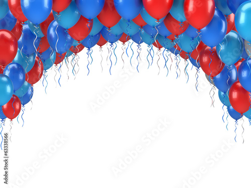 Fotografia, Obraz  Colorful Party Balloons Banquet