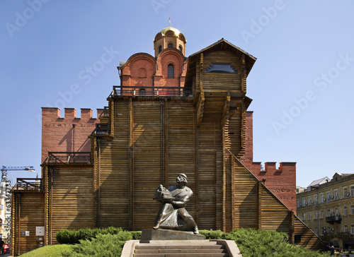 Kiev. Golden Gate. Yaroslav the wise monument. Ukraine