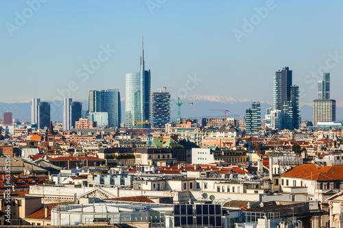 Spoed Foto op Canvas Milan Skylien von Mailand