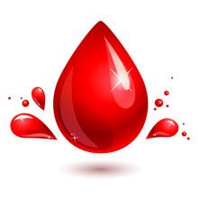 Blood Drop. Red Drop