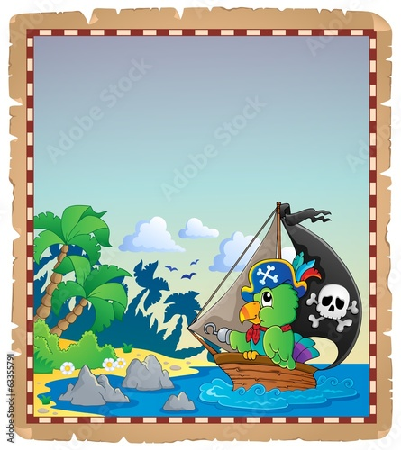 Pirate theme parchment 2