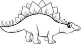 Fototapeta Dinusie - stegosaurus dinosaur coloring page