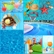 Collage of photos summer holiday