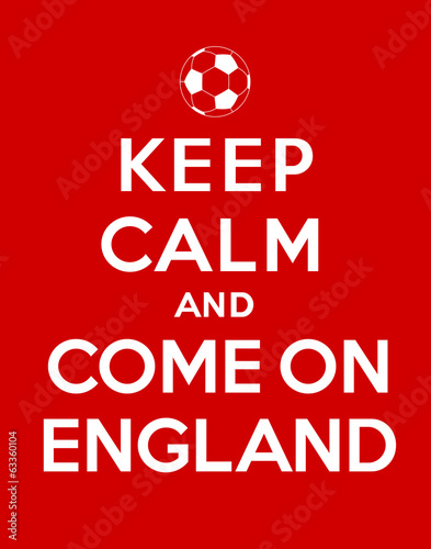 keep calm and Come On England Canvas Print