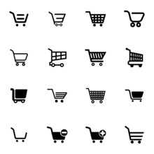 Vector Black  Shopping Cart  I...