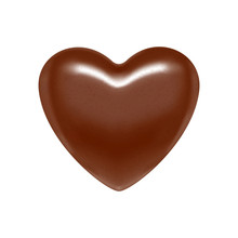 Glossy Vector Chocolate Heart ...