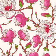 Fototapetapink magnolias