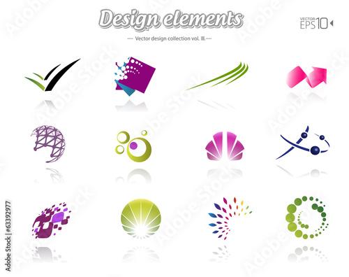 Fotografía  Color design set, isolated, vector illustration