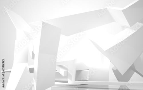 Fototapeta Architektura abstrakcyjna. streszczenie biały budynek na białym tle