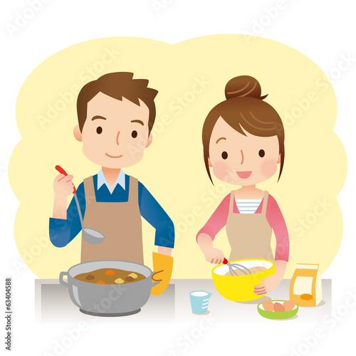 Fotografía  料理をする夫婦