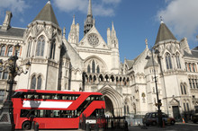 Red London Bus And Courts Of J...