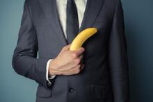 Businessman With Banana