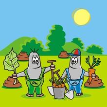 Mole-gardeners