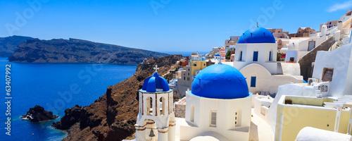 Spoed Foto op Canvas Mediterraans Europa Oia Santorini Greece Europe
