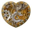 Steampunk clockwork heart