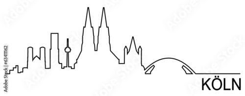 Fototapeta Skyline Köln obraz