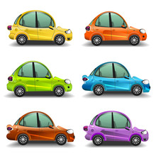 Colorful Cartoon Cars
