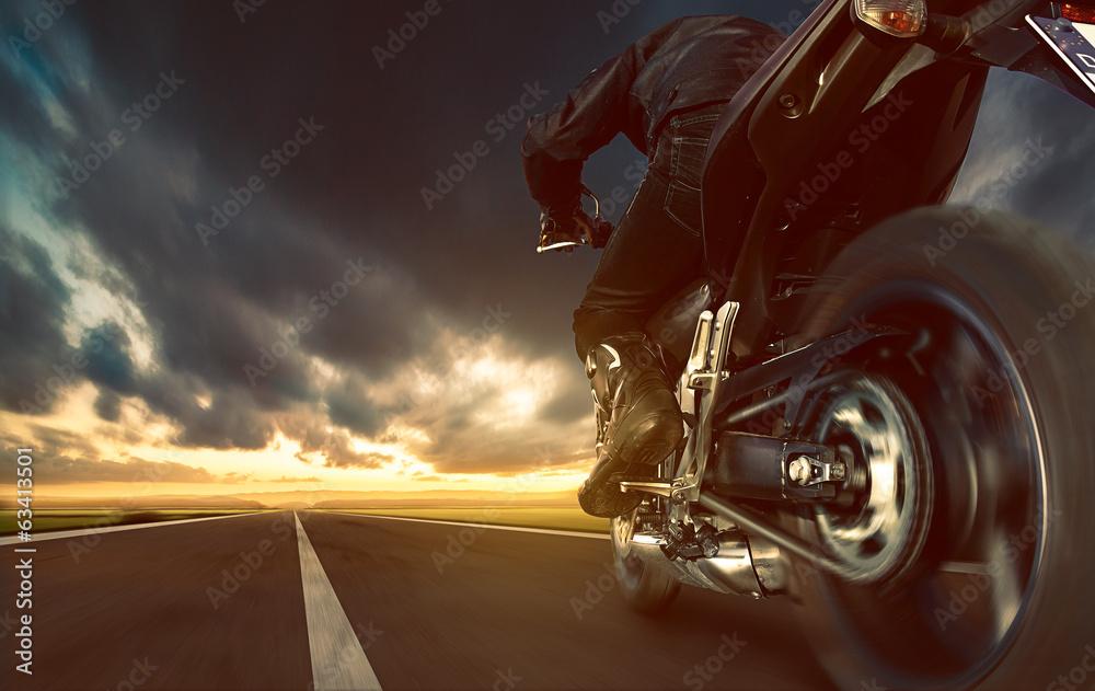 Fototapeta Speeding Motorcycle