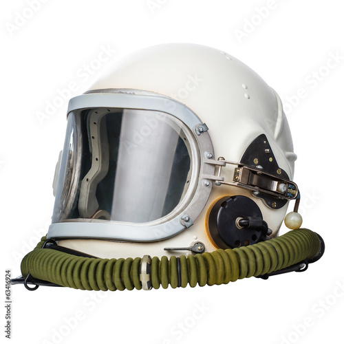 Keuken foto achterwand Nasa Astronaut/pilot helmet isolated on a white background.