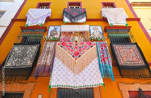 Balcones de Andalucía en fiestas, España Canvas-taulu