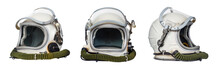 Set Of Space Helmets Isolated ...